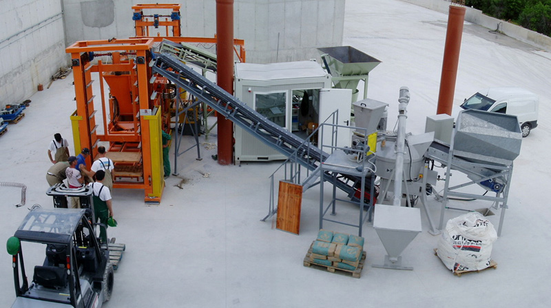 Cement Block Plant Machines : Siko s r l concrete batching plants for precast industry